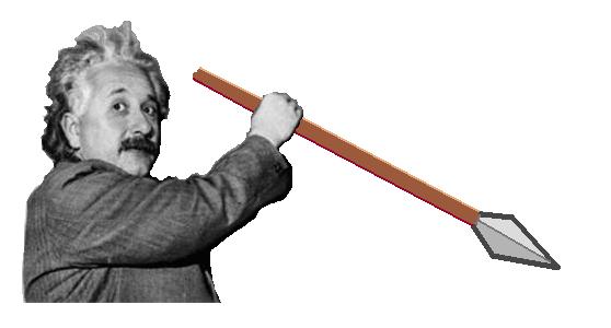 Einstein en chasse